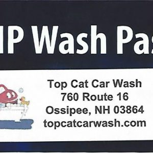 Top Cat Prepaid Wash Cards