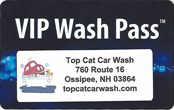 Top Cat Prepaid Wash Cards